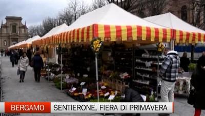 Bergamo, le bancarelle della Fiera di Primavera