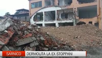 Sarnico: demolita l'ex Stoppani