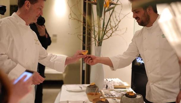 Cerea conquista Roma con il pesce Show cooking con lo chef Narducci
