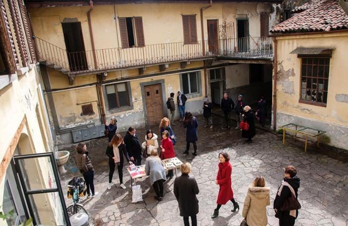 domina domna presentazione all'ex asilo Principe di Napoli