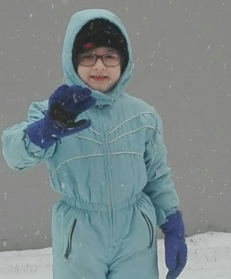 Lorenzo sotto la neve