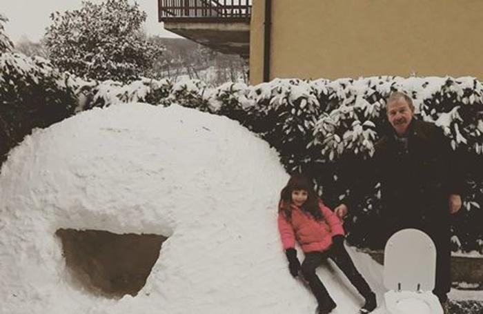Alessia e nonno Cesco ad Almenno San Salvatore