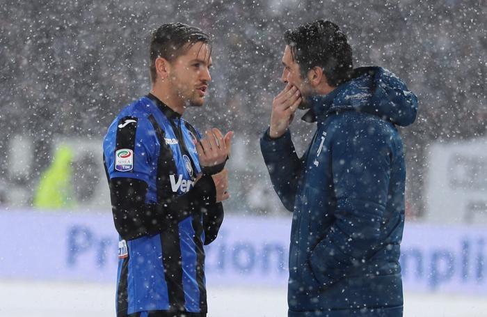 Serie A TIM 2017-18 giornata 26 juventus - atalanta toloi e buffon