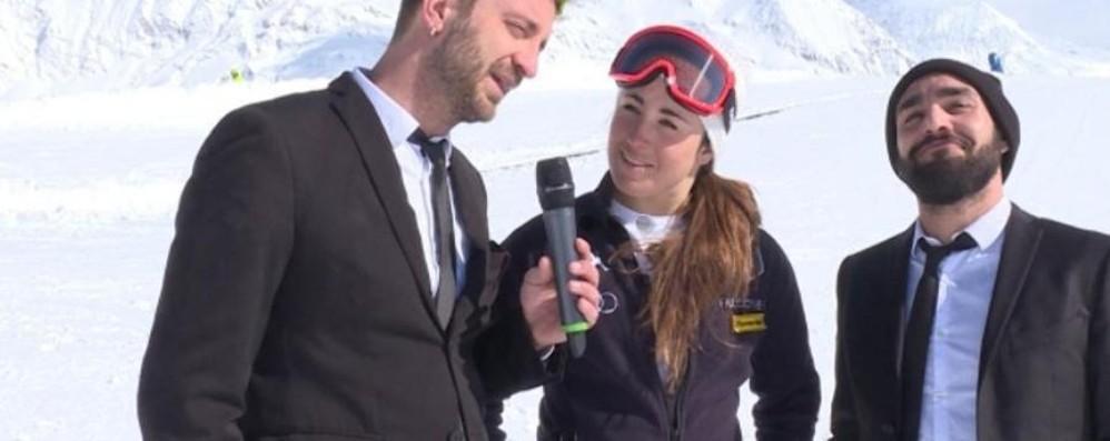 Le Iene sfidano Sofia Goggia al pinnathlon E la campionessa olimpica vince sempre