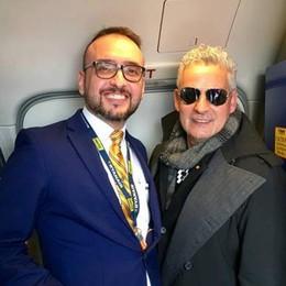 Roberto Baggio all'aeroporto di Orio Da Bergamo in volo verso Budapest