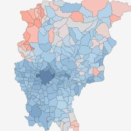 I Comuni più ricchi della Bergamasca Mappa e classifica dei redditi: Gorle al top