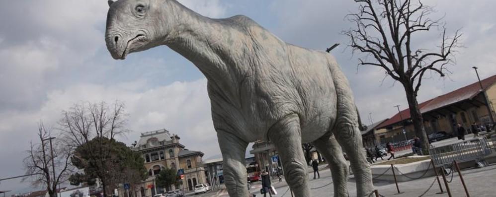 Dinosauri a Bergamo, chi li adotta? Quei «bestioni» costano 317 mila euro