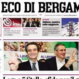 Il voto in tutti i comuni bergamaschi Su L'Eco del 6 marzo 54 pagine speciali