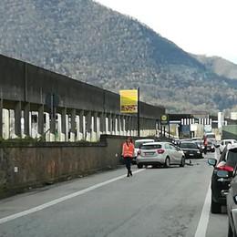 Albino, scontro frontale in superstrada Code e traffico in Valle Seriana - Foto
