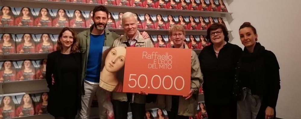 Da Salisburgo a Bergamo per Raffaello Festa per il traguardo di 50mila visitatori