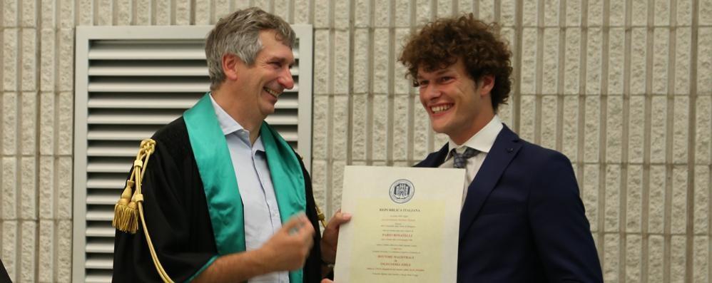 Fabio, arriva la seconda laurea  «La sordità non è un limite alla volontà»