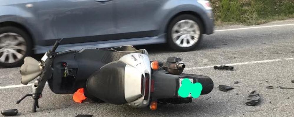 Incidente a Entratico, lunghe code Ferito un motociclista di 19 anni
