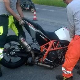 Moto contro auto in via Stezzano Gravissimo un giovane di 28 anni