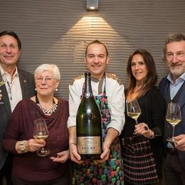 Champagne Encry esalta  il pesce di Giò a Seriate