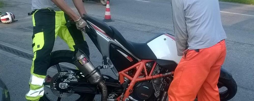 Schianto in moto sulla statale 42 Resta grave il 28enne di Stezzano