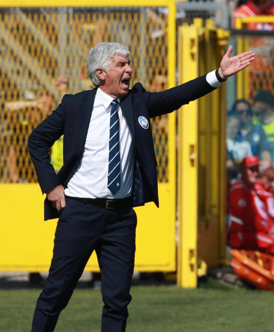 Atalanta's head coach Gian Piero Gasperini