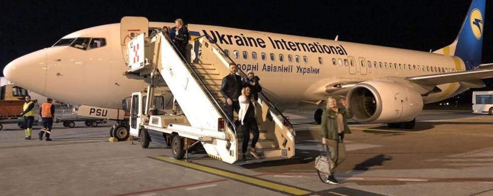 Da Bergamo in volo per l'Ucraina Inaugurata la tratta verso Kharkiv