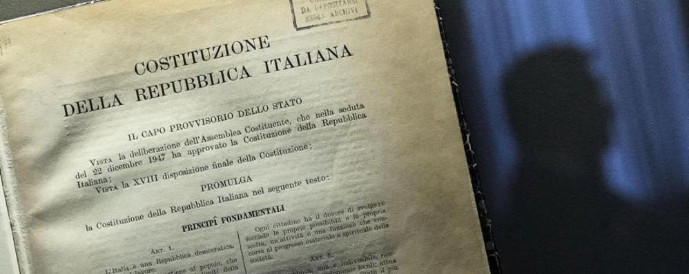 «La Costituzione si legga in classe» Iniziativa civica per il 1° giugno