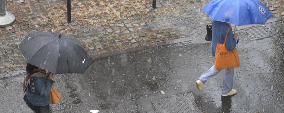Torna la pioggia sulla Bergamasca E con i temporali possibili grandinate
