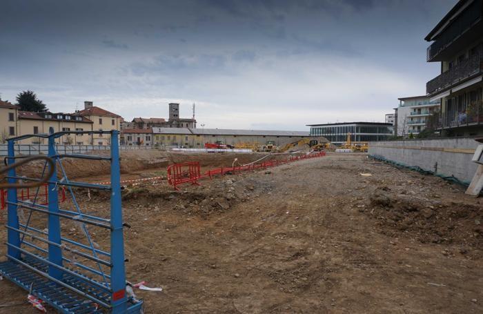L'area del cantiere della futura residenza per anziani tra via Bono e via Mai