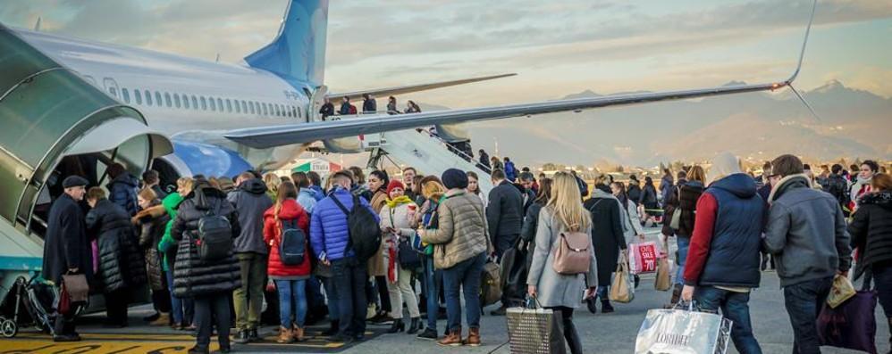 Aeroporto, crescono ancora i passeggeri Aumento del 5,5% nei primi tre mesi