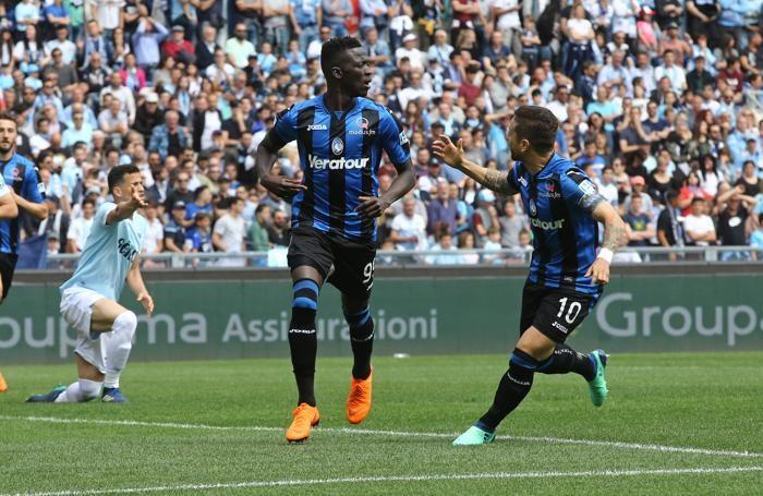 Serie A TIM 2017-18 giornata 36 lazio - atalanta dopogol barrow