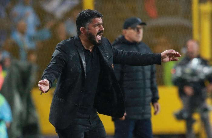 Milan's head cooch Gennaro Gattuso