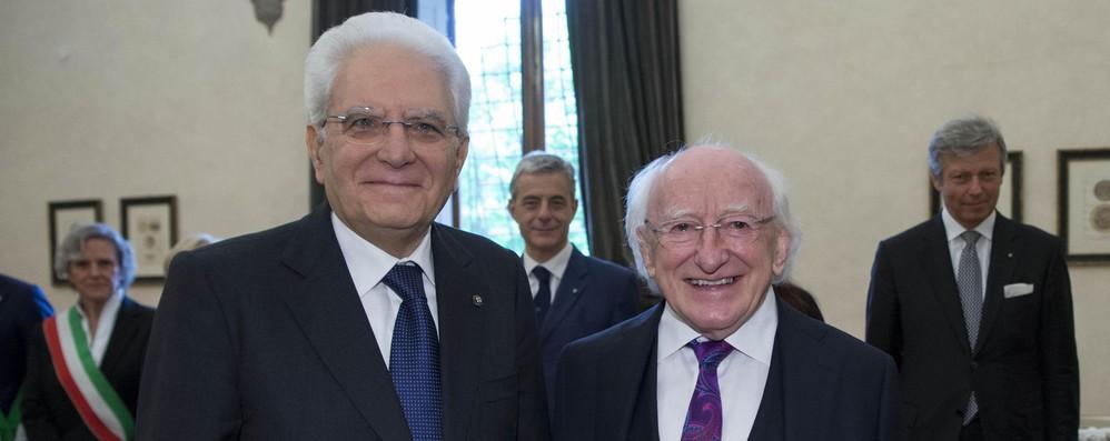 Il presidente dell'Irlanda Higgins rende omaggio all'Italia che salva i migranti