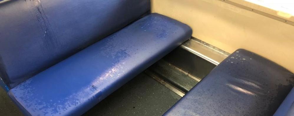 Piove anche... dentro il treno - Foto/Video Mattinata bagnata sul Bergamo-Milano