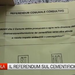 Tavernola, domani il referendum sul cementificio