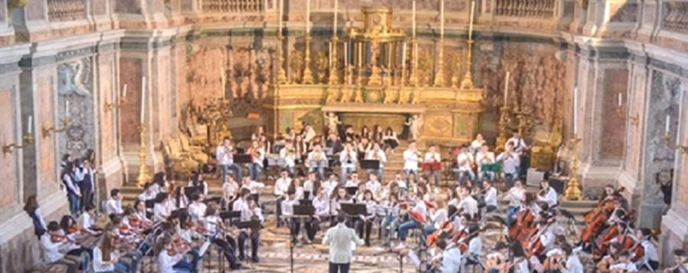 Concerto speciale alla Reggia di Caserta degli studenti di Almenno San Bartolomeo