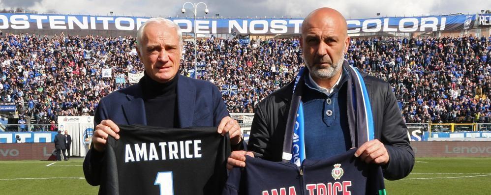 Nuovo stadio ad Amatrice, grazie anche all'Atalanta e al «cuore» di Bergamo