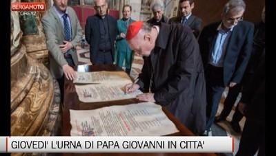 Papa Giovanni giovedì nella sua Bergamo