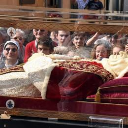 L'arrivo nel suo Seminario Segui qui la diretta di Bergamo Tv