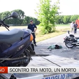 Brignano Gera d'Adda, scontro frontale tra moto, muore 47enne