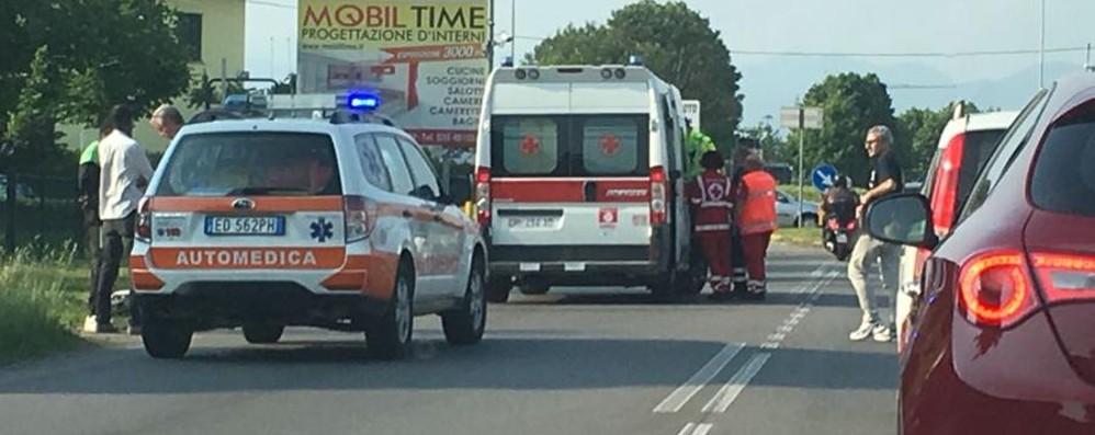Doppio incidente stradale a Osio Sotto Code sulla provinciale verso Bergamo