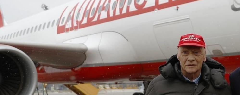 Nuova rotta da Orio per Vienna con la compagnia aerea di Niki Lauda