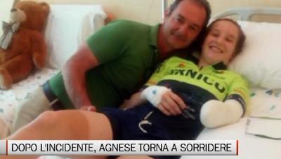 Dopo l'incidente, Agnese torna a sorridere