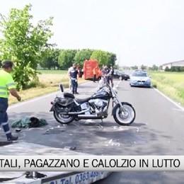 Incidenti in moto, Pagazzano e Calolziocorte in lutto