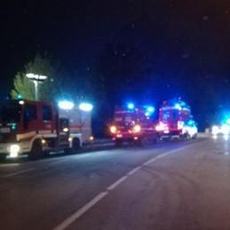 Bloccati dal fiume Serio in piena  Vigili del fuoco salvano quattro giovani