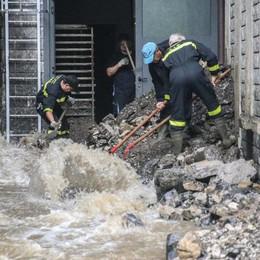 L'onda d'acqua distrugge un panificio Algua: «La valletta va sistemata»