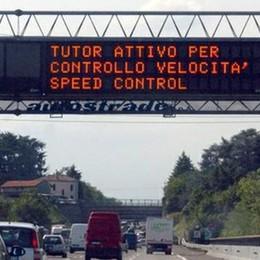 Tutor spenti sulle autostrade A luglio scattano nuovi controlli