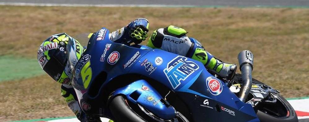 Andrea Locatelli in gara al Mugello Indosserà un casco dedicato all'Atalanta