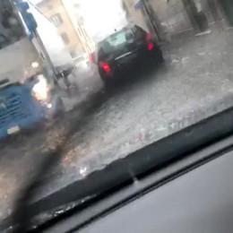 Temporale e strade allagate a Pisogne