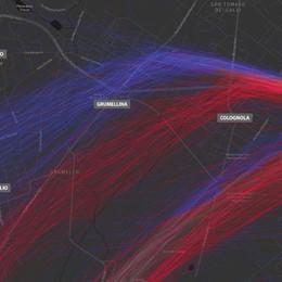 Il video delle nuove rotte degli aerei Cosa cambia per i quartieri di Bergamo