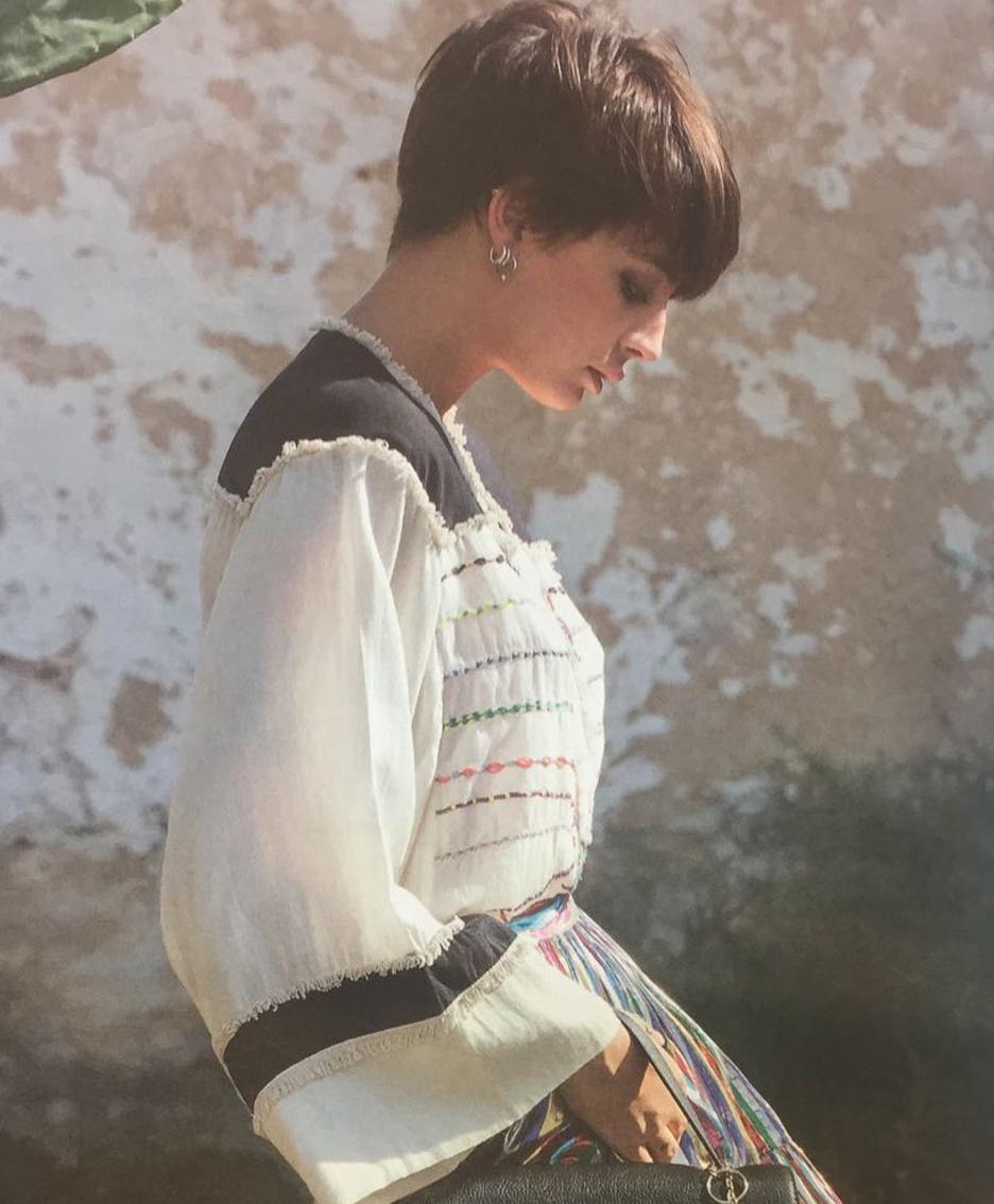Virginia Tosca Blu, figlia di Giacomo Ronzoni e testimonial del brand