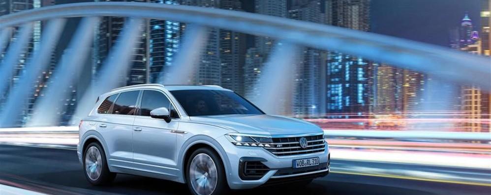 Sulla Volkswagen Touareg  una telecamera a infrarossi