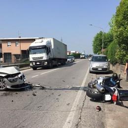 Castelli Calepio, scontro auto-moto Grave motociclista 42enne - Foto