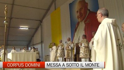 Corpus Domini insieme a Papa Giovanni a Sotto il Monte