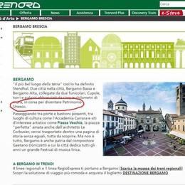 Trenord, ritardo e errori sul sito Mura senza Unesco e Donizetti con due «z»